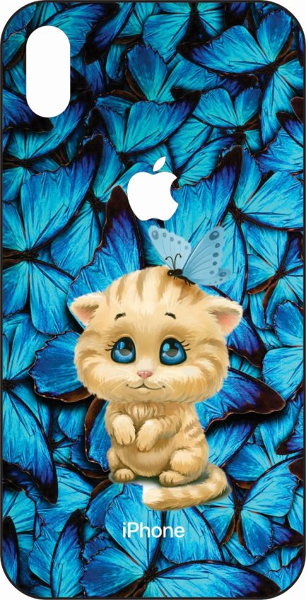 iPhone Xs Max Kitty with Butterflies-0