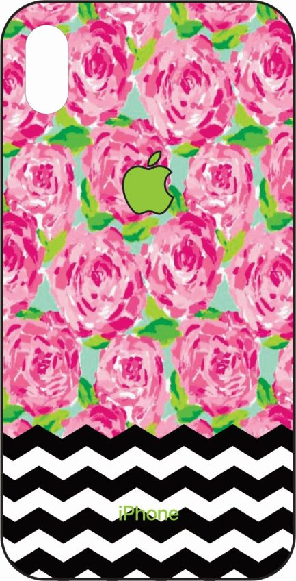 iPhone Xs Max Lilly Inspired Design Roses-0