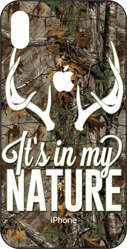 iPhone Xs Max It's In My Nature Camo Design-0