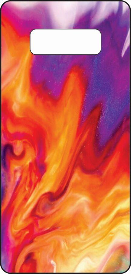 Note 8 Skin Purple and Orange Design-0