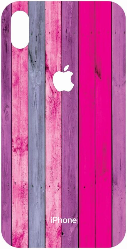 iPhone Xs Max Purple, Pink, and Blue Wood Grain Design-0