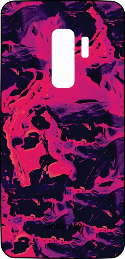 S9 Plus Skin Pink and Purple Liquid Design-0