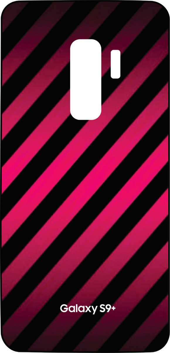 S9 Plus Skin Pink and Black Stripes-0