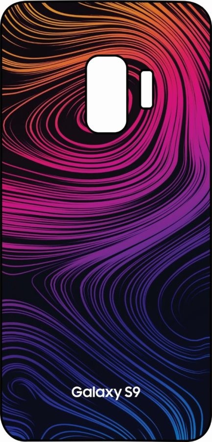 S9 Swirl Desing Pink, Purple and Blue-0