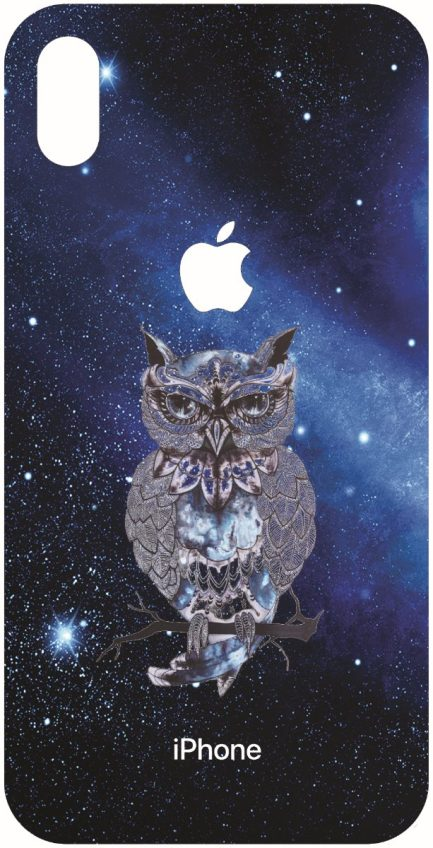 iPhone Xs Max Blue Space Owl Design-0