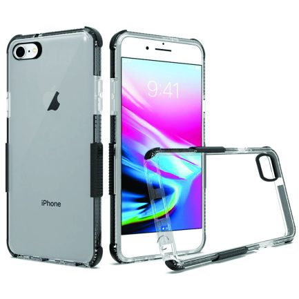 iPhone 7/8 Black Clear Case-0