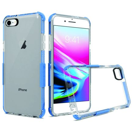 iPhone 7/8 Clear Case Blue-0