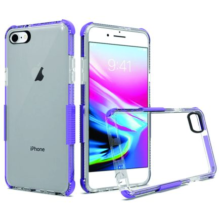 iPhone 7/8 Clear Case Purple-0