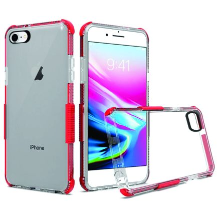 iPhone 7/8 Clear Case Red-0