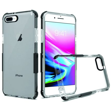 iPhone 8 Plus Clear Case Black-0