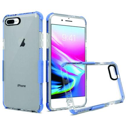iPhone 8 Plus Clear Case Light Blue-0