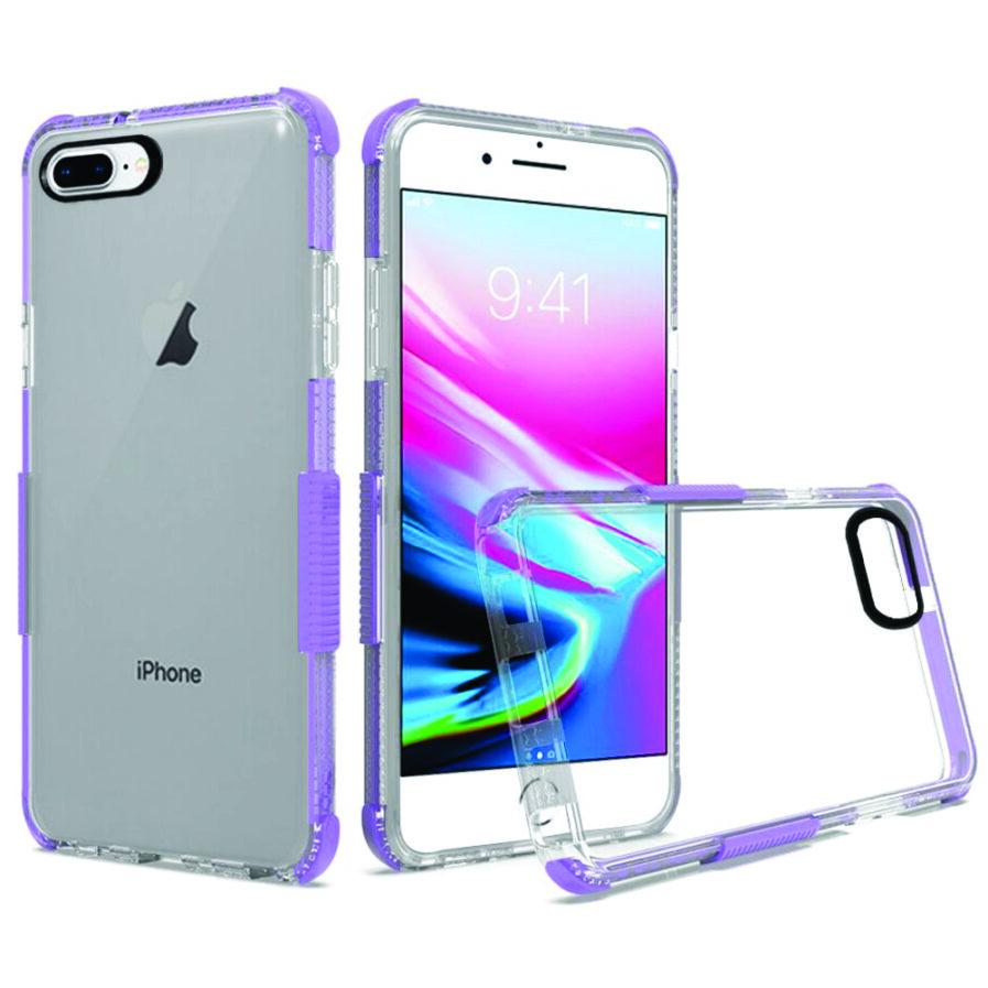 iPhone 8 Plus Clear Case Purple-0
