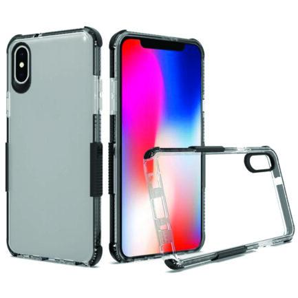 iPhone X Clear Case Black-0