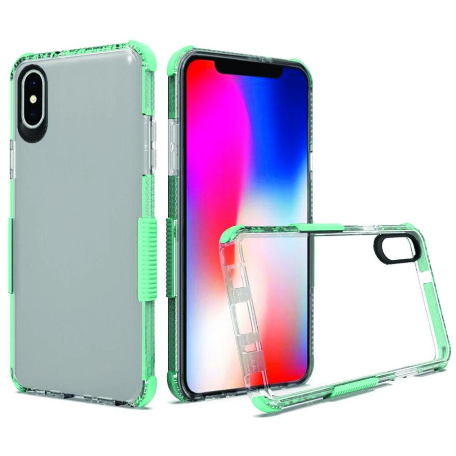 iPhone Xs Max Clear Case Mint Blue-0