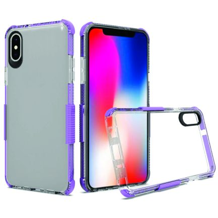 iPhone Xs Max Clear Case Purple-0