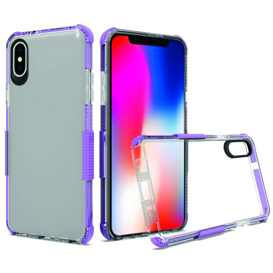 iPhone Xs Max Clear Case Purple-0