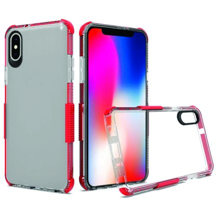 iPhone X Clear Case Red-0