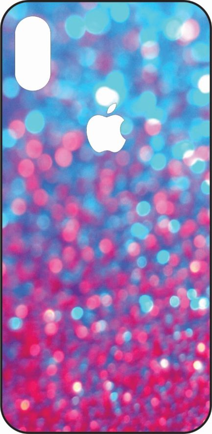 iPhone X Blue and Pink Gliter Skin-0