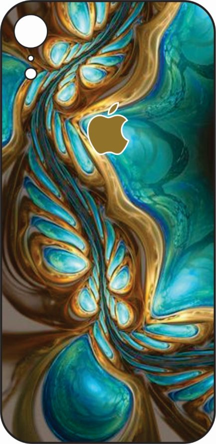 iPhone XR Blue and Gold Design-0