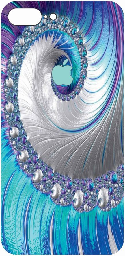iPhone 8 Plus Blue and Purple Coral Design-0