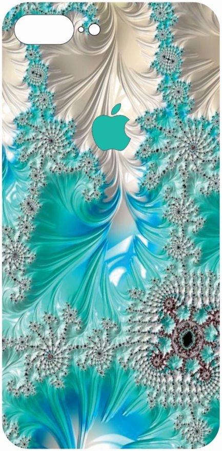 iPhone 8 Plus Blue and White Coral Design-0