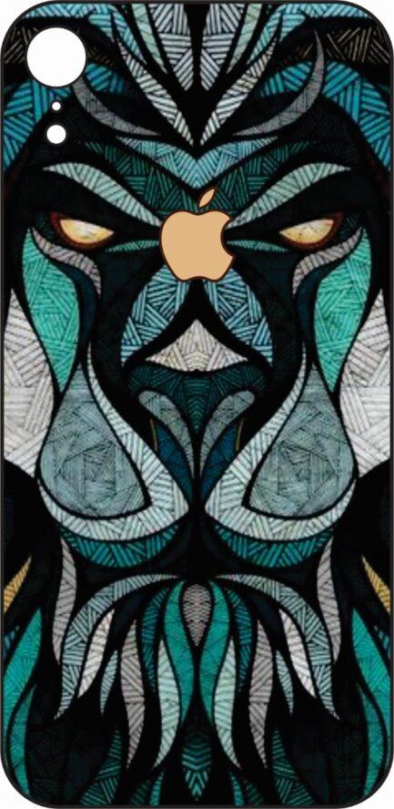 iPhone XR Blue Lion Design-0