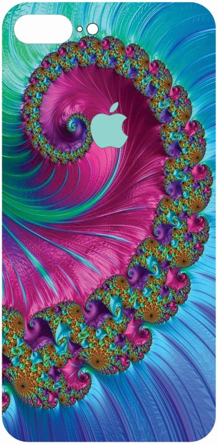 iPhone 8 Plus Blue an Pink Coral Design-0