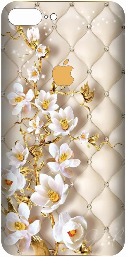iPhone 8 Plus Gold Flower Design-0
