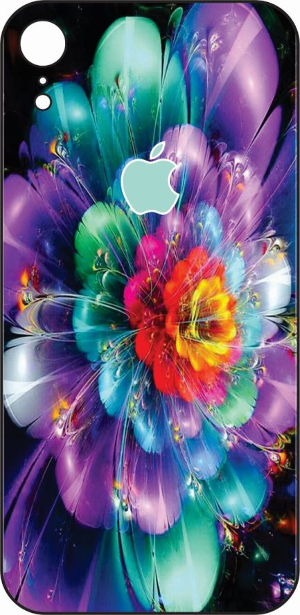 iPhone XR Green, Purple and Blue Design-0