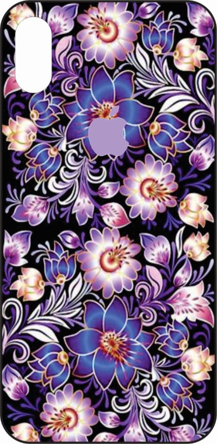 iPhone X Purple Flowers Design -0