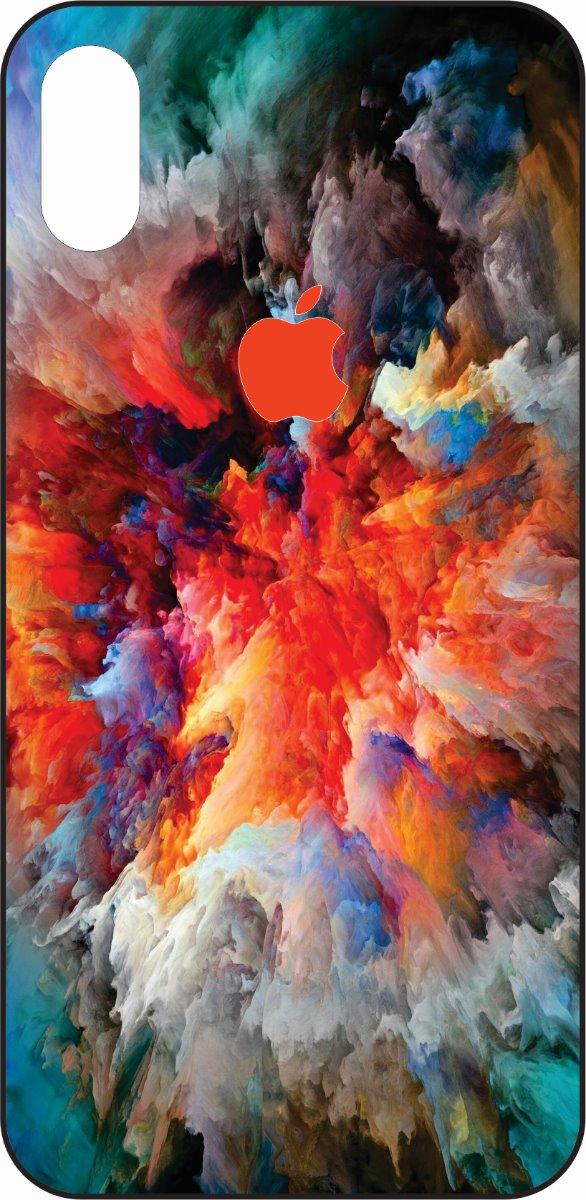 iPhone X Rainbow Smoke Design-0