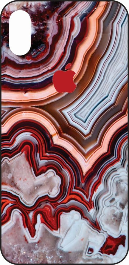 iPhone X Red Marble Design-0
