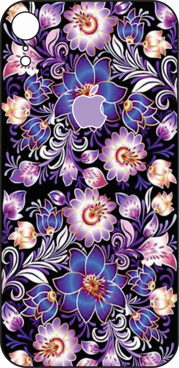 iPhone XR Purple Flowers Design-0