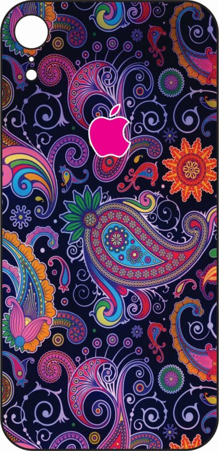 iPhone XR Purple Paisley-0