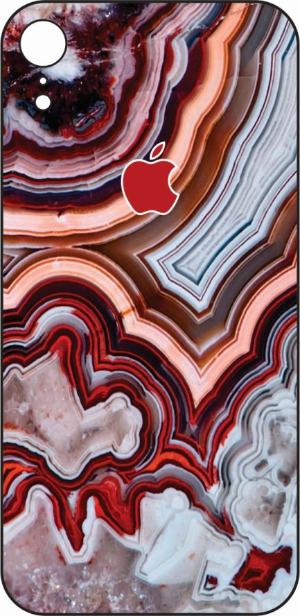 iPhone XR Red Marble Design-0