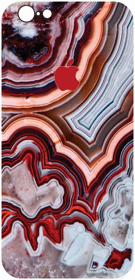 iPhone 6/6s Red Marble Design-0