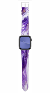 Custom Apple WATCH Band Purple Marble Design 38mm