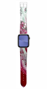 Custom Apple WATCH Band Pink Marble Design 38mm