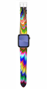 Custom Apple WATCH Band Tye-dye Design #1 38mm